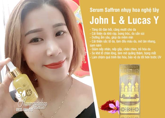 Serum Saffron nhụy hoa nghệ tây John L & Lucas Y 30ml 2