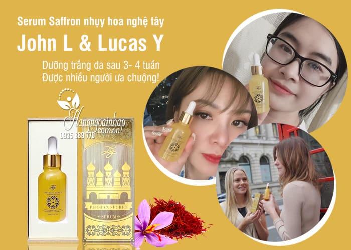 Serum Saffron nhụy hoa nghệ tây John L & Lucas Y 30ml 7