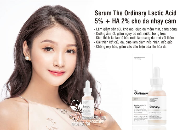 Serum The Ordinary Lactic Acid 5% + HA 2% cho da nhạy cảm 5