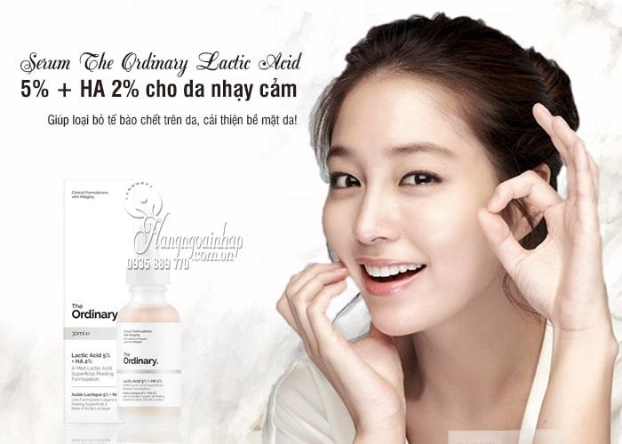 Serum The Ordinary Lactic Acid 5% + HA 2% cho da nhạy cảm 1