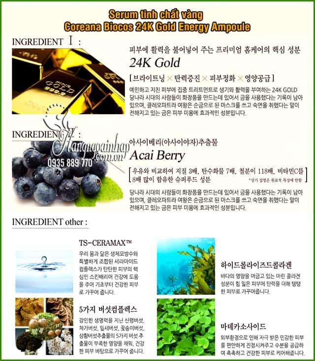 Serum tinh chất vàng Coreana Biocos 24K Gold Energy Ampoule 5