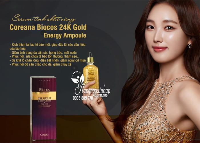 Serum tinh chất vàng Coreana Biocos 24K Gold Energy Ampoule 3