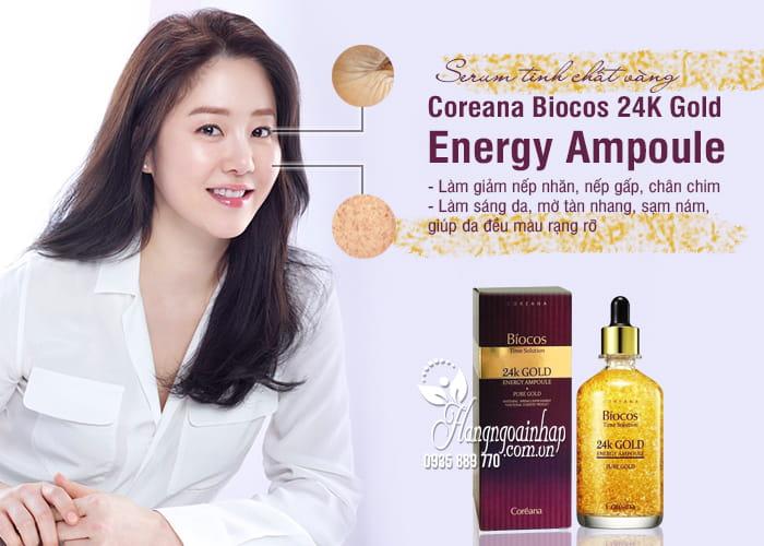 Serum tinh chất vàng Coreana Biocos 24K Gold Energy Ampoule 1