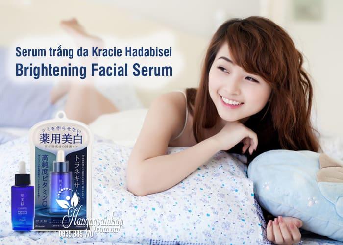 Serum trắng da Kracie Hadabisei Brightening Facial Serum 8