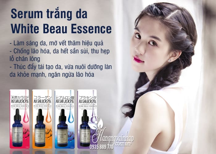Serum trắng da White Beau Essence 25ml Nhật Bản đủ loại 3
