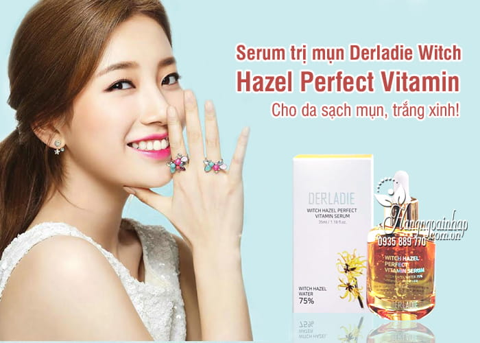 Serum trị mụn Derladie Witch Hazel Perfect Vitamin 35ml 1