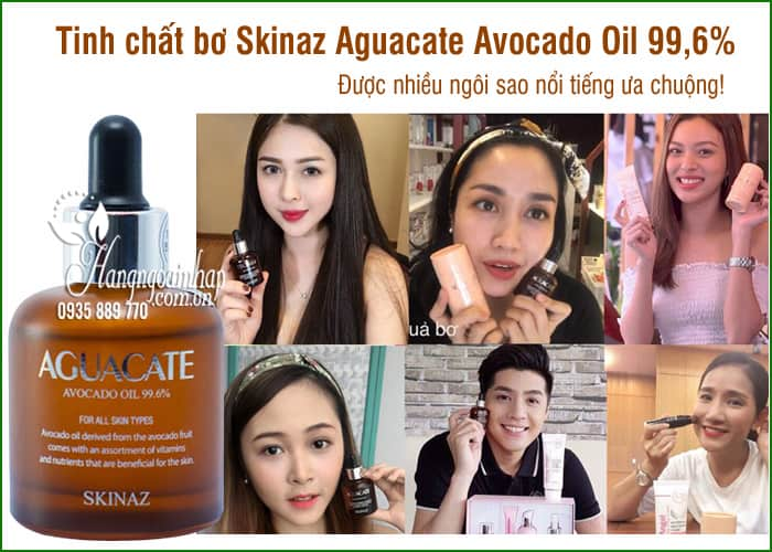 Tinh chất bơ Skinaz Aguacate Avocado Oil 99,6% của Hàn Quốc 8