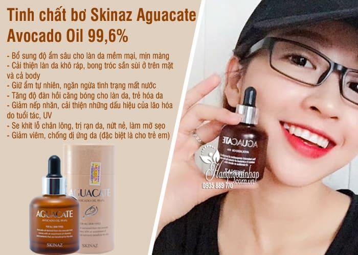 Tinh chất bơ Skinaz Aguacate Avocado Oil 99,6% của Hàn Quốc 7