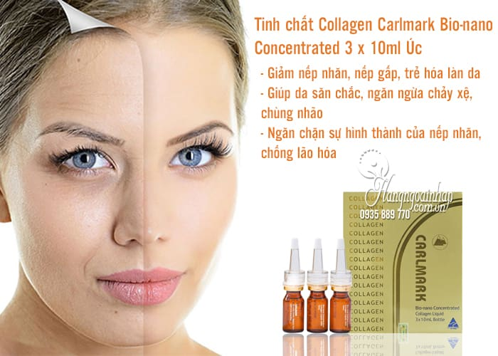Tinh chất Collagen Carlmark Bio-nano Concentrated 3 x 10ml Úc 2