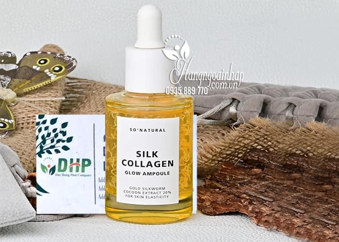Tinh chất dưỡng da Silk Collagen Glow Ampoule 50ml của Hàn 8