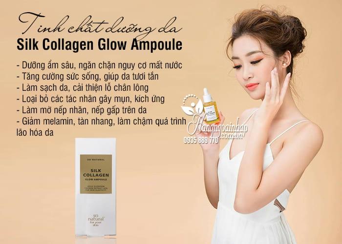Tinh chất dưỡng da Silk Collagen Glow Ampoule 50ml của Hàn 2
