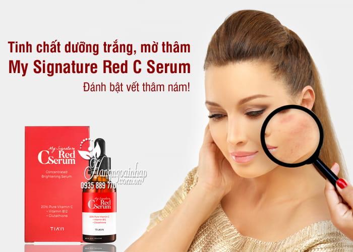 Tinh chất dưỡng trắng, mờ thâm My Signature Red C Serum 30ml 7