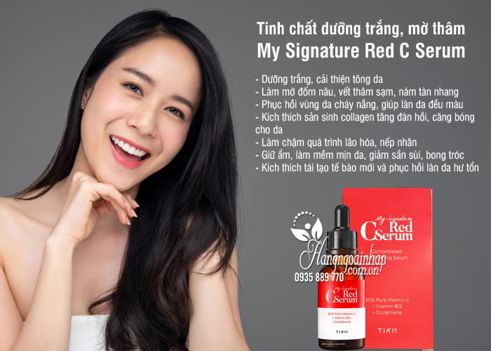 Tinh chất dưỡng trắng, mờ thâm My Signature Red C Serum 30ml 3