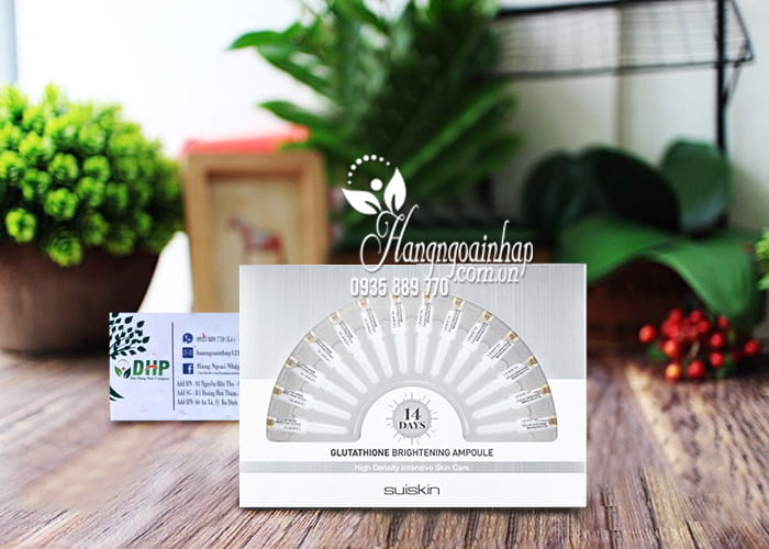 Tinh chất kích trắng da Suiskin Glutathione Brightening Ampoule 1