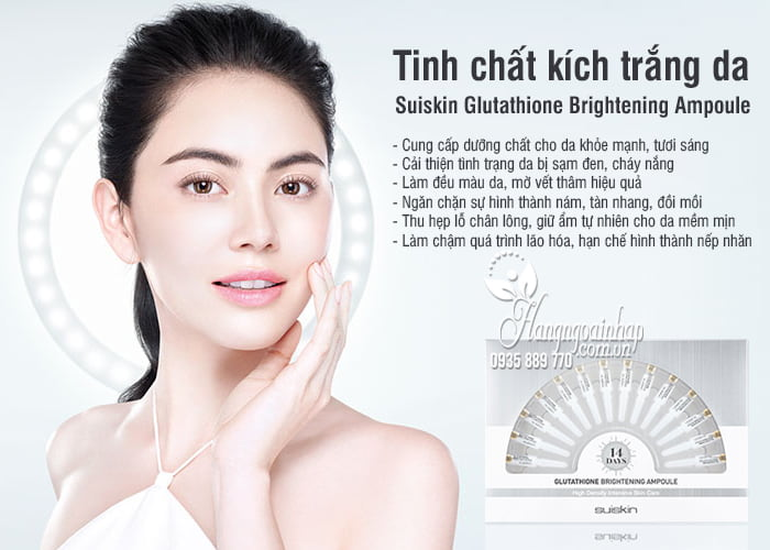 Tinh chất kích trắng da Suiskin Glutathione Brightening Ampoule 4