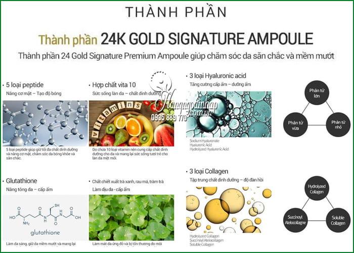 Tinh chất nâng cơ Bookki 24K Gold Signature Premium Ampoule 100ml 5