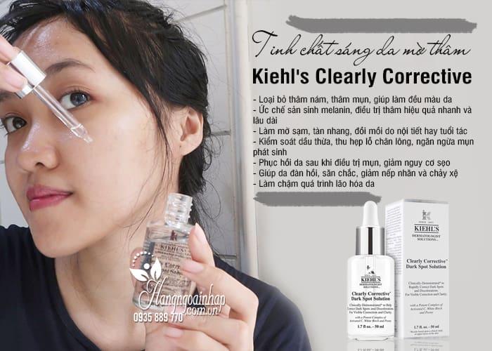Tinh chất sáng da mờ thâm Kiehls Clearly Corrective 50ml Mỹ 8