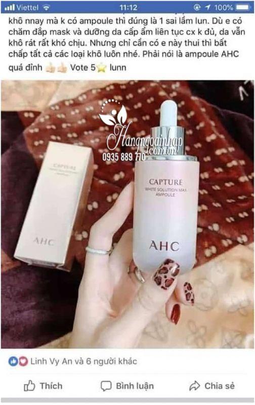Tinh chất serum AHC Capture Solution Max Ampoule 50ml Hàn Quốc 2