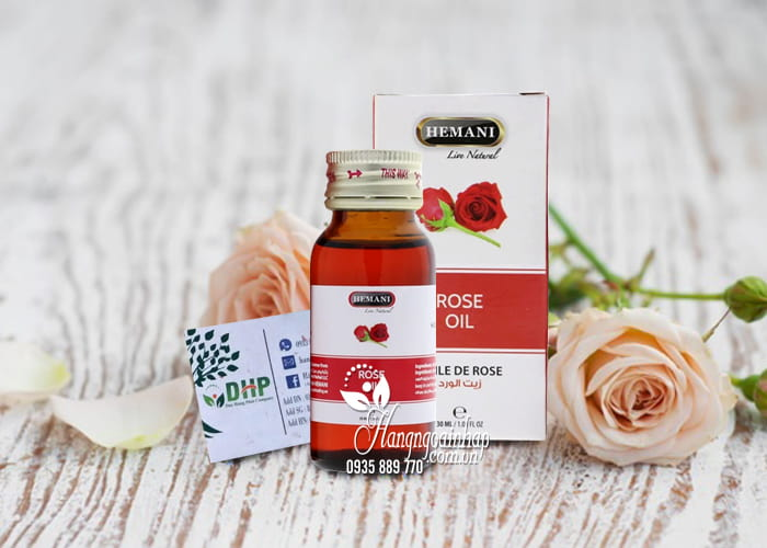 Tinh dầu hoa hồng Rose Oil Hemani chính hãng, chai 30ml 7