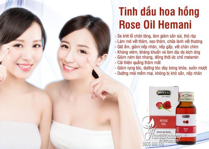Tinh dầu hoa hồng Rose Oil Hemani chính hãng, chai 30ml 3