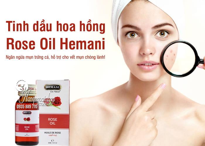 Tinh dầu hoa hồng Rose Oil Hemani chính hãng, chai 30ml 1