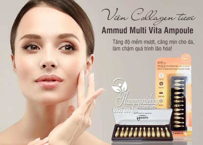 Viên Collagen tươi Ammud Multi Vita Ampoule set 12 Hàn Quốc 1