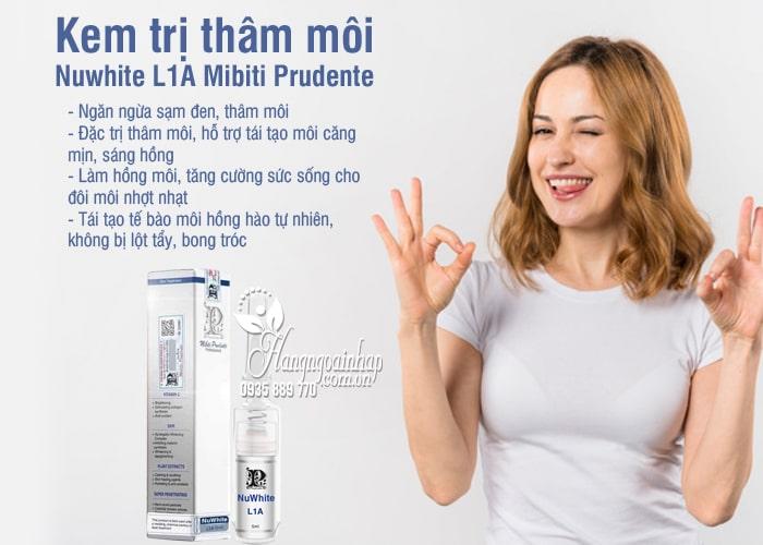 Kem trị thâm môi Nuwhite L1A Mibiti Prudente của Mỹ 2