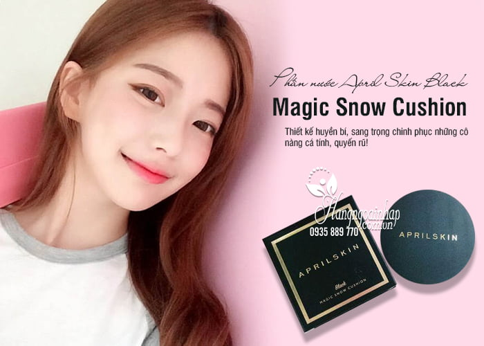 Phấn nước April Skin Black Magic Snow Cushion 15g Hàn Quốc 1