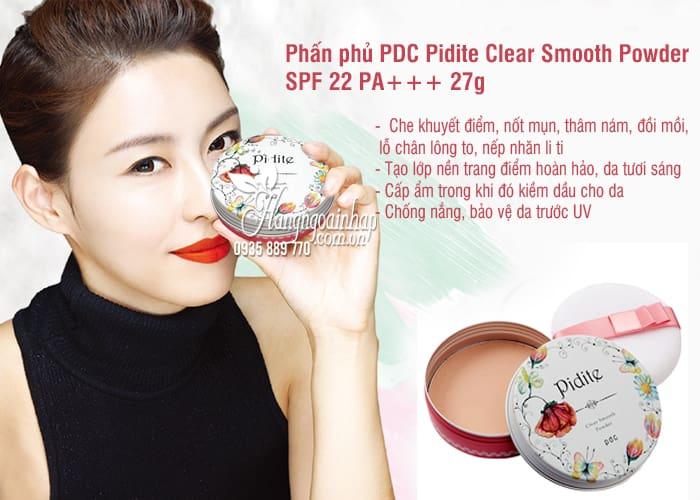Phấn phủ PDC Pidite Clear Smooth Powder SPF 22 PA+++ 27g Nhật Bản 1