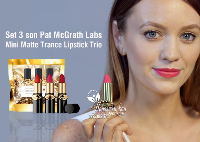Set 3 son Pat McGrath Labs Mini Matte Trance Lipstick Trio 5