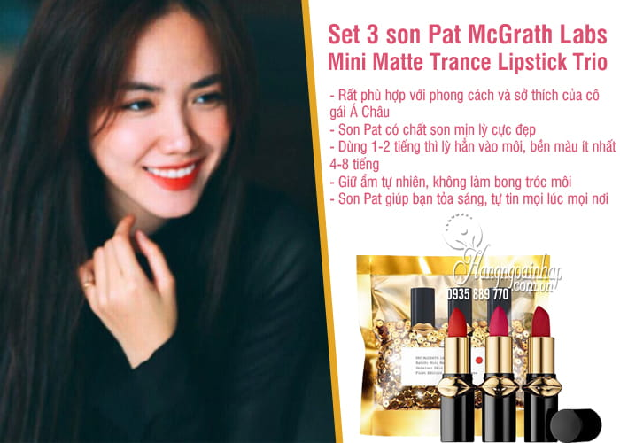 Set 3 son Pat McGrath Labs Mini Matte Trance Lipstick Trio 1