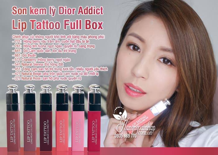 Son kem lỳ Dior Addict Lip Tattoo Full Box chính hãng 6