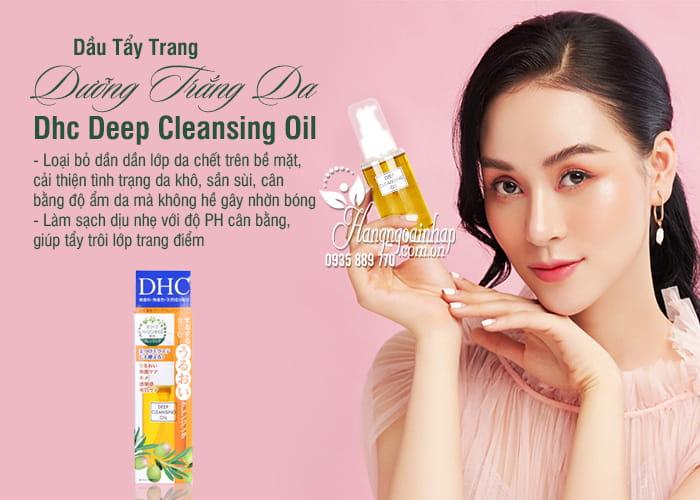 Dầu Tẩy Trang Dưỡng Trắng Da Dhc Deep Cleansing Oil 70ml Của Nhật 9