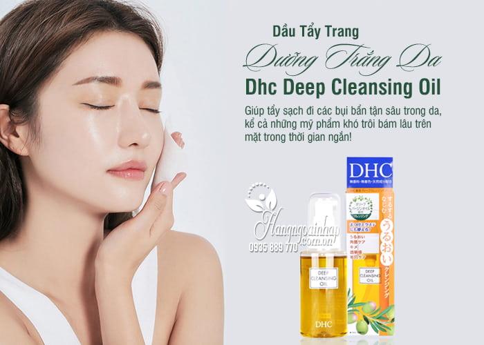 Dầu Tẩy Trang Dưỡng Trắng Da Dhc Deep Cleansing Oil 70ml Của Nhật 3