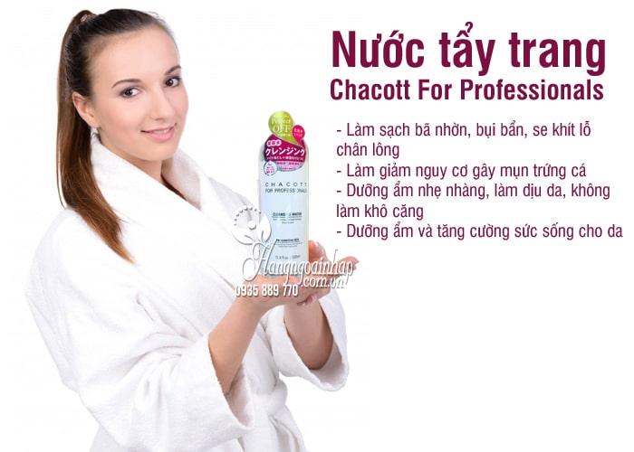Nước tẩy trang Chacott For Professionals 500ml của Nhật 6