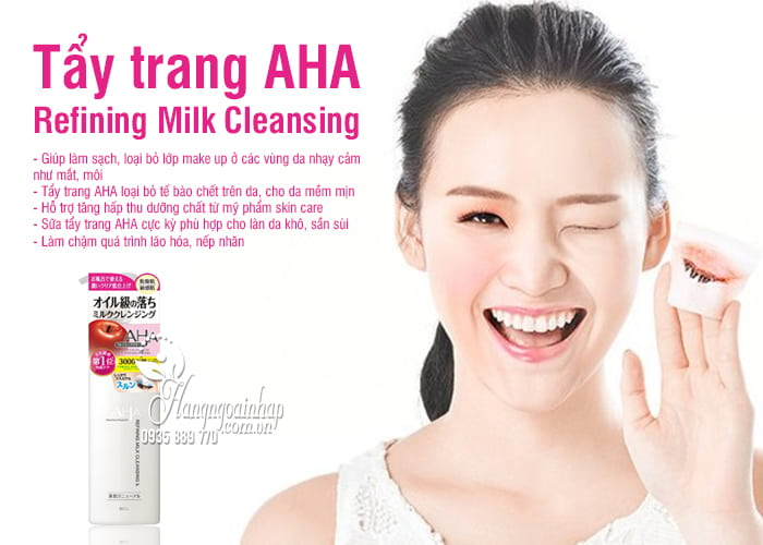 Tẩy trang AHA Refining Milk Cleansing 145ml Nhật Bản 2