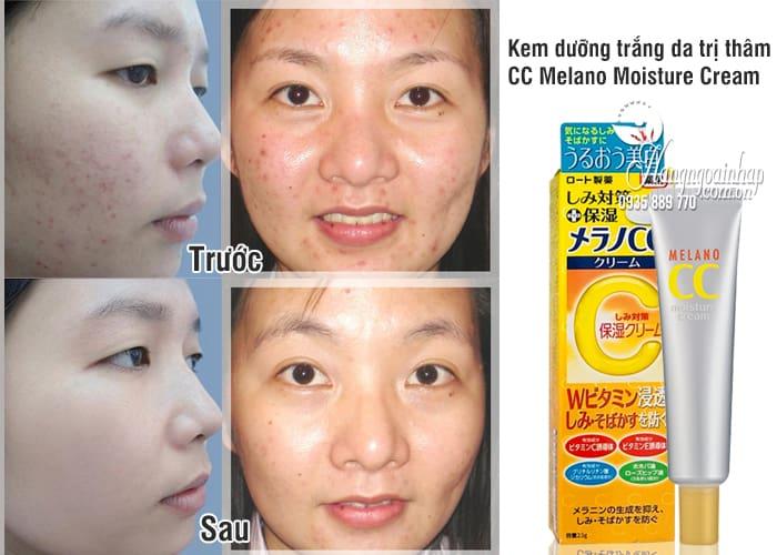 Kem dưỡng trắng da trị thâm CC Melano Moisture Cream 23g 4