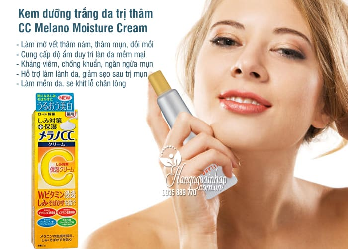 Kem dưỡng trắng da trị thâm CC Melano Moisture Cream 23g 1