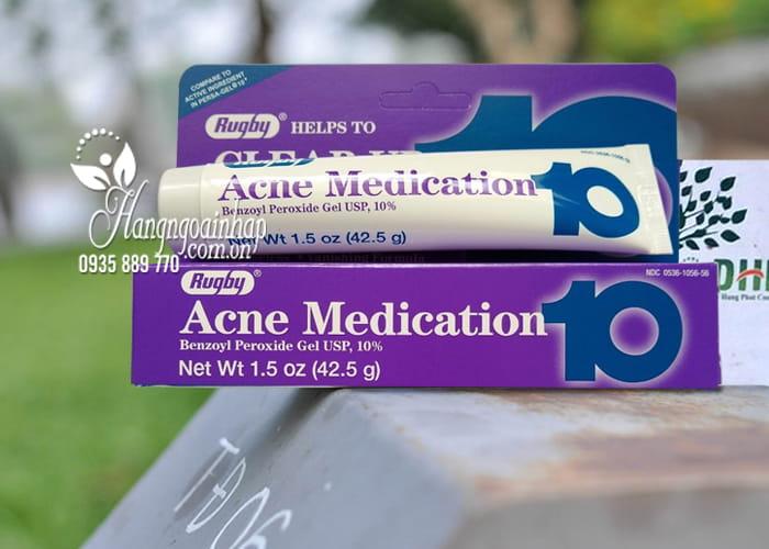 Kem trị mụn trắng da Rugby Acne Medication 10% của Mỹ 1