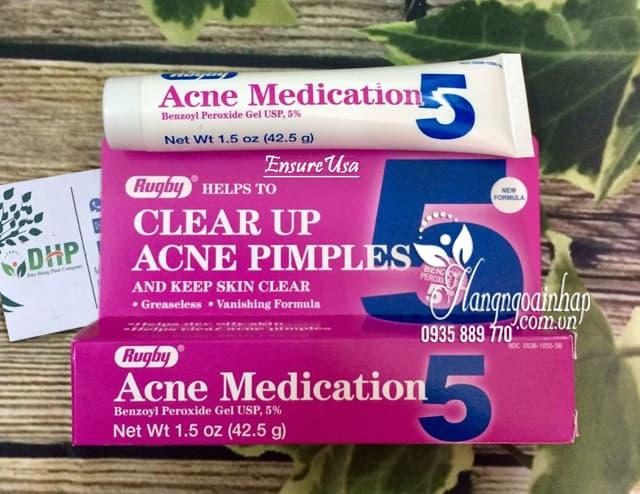 Kem trị mụn Rugby Acne Medication 5% của Mỹ 42,5g 1