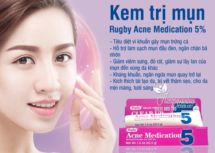 Kem trị mụn Rugby Acne Medication 5% của Mỹ 42,5g 7