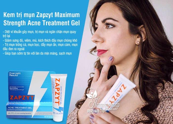 Kem trị mụn Zapzyt Maximum Strength Acne Treatment Gel của Mỹ 3