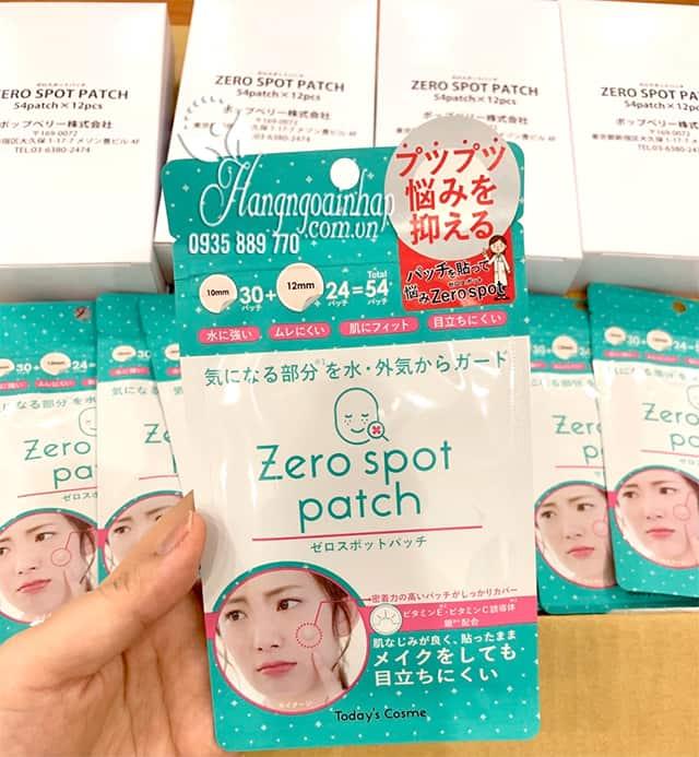 Miếng dán mụn Zero Spot Patch của Nhật Bản gói 54 miếng 0