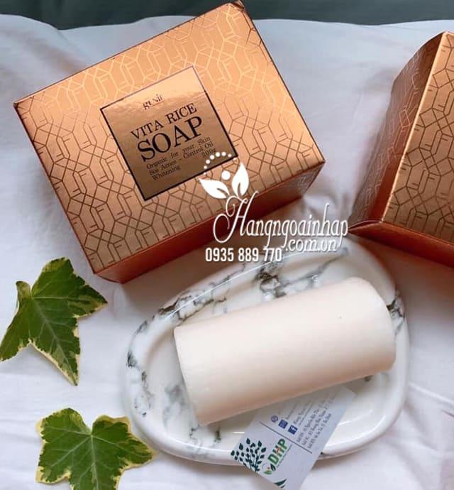 Soap rửa mặt trị mụn sáng da Genie Vita Rice Hàn Quốc 9