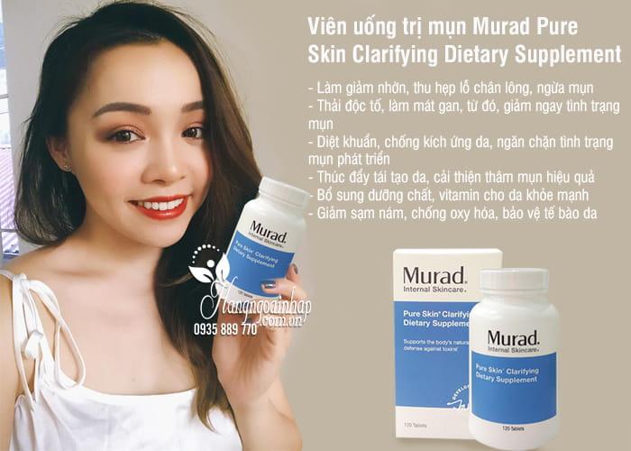 Viên uống trị mụn Murad Pure Skin Clarifying Dietary Supplement 4