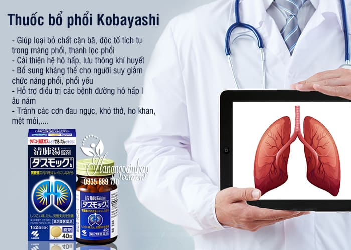 Thuốc bổ phổi Kobayashi hộp 80 viên - Thuốc bổ phổi Nhật 1