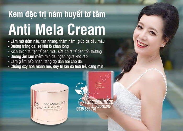 Kem đặc trị nám huyết tơ tằm Anti Mela Cream 50ml Hàn Quốc 4
