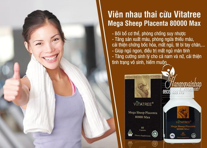 Viên nhau thai cừu Vitatree Mega Sheep Placenta 80000 Max 60 viên 3