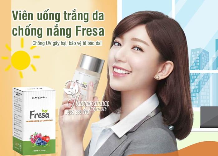 Viên uống trắng da chống nắng Fresa Whitening & Sunblock 8
