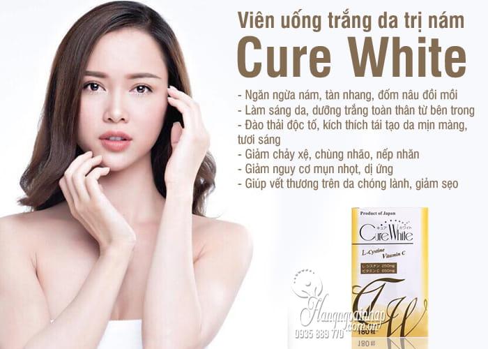 Viên uống trắng da trị nám Cure White Nhật Bản 180 viên 2